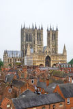 Lincoln Cathedral, Lincoln, England, viewed across rooftops Stock Photography