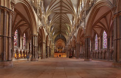 Lincoln Cathedral Nave Stock Foto's