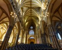 Lincoln Cathedral Nave Ceiling West royaltyfri fotografi