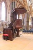 Lincoln Cathedral Pulpit fotografie stock libere da diritti