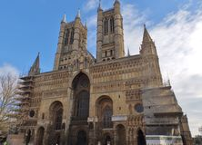 Lincoln Cathedral-restauratie Royalty-vrije Stock Afbeelding