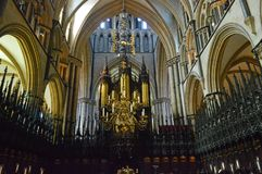 Lincoln Cathedral St Hughs Choir stock foto