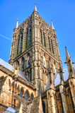 Lincoln Cathedral torn, UK Arkivbild