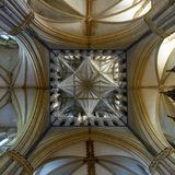Lincoln Cathedral Tower Ceiling Fotografie Stock