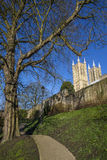 Lincoln Cathedral viewed from the Bishops Palace Royalty Free Stock Photos