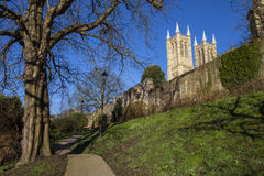 Lincoln Cathedral viewed from the Bishops Palace Royalty Free Stock Photography