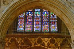Lincoln Cathedral Window foto de stock