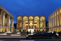 Lincoln Center. A popular theater in New York City, with the Metropolitan Opera House at Center. The architecturally impressive structure has hosted thousands Royalty Free Stock Photos