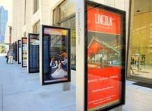 Lincoln Center-Anschlagtafeln lizenzfreies stockbild