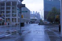 Lincoln Center de Sandy del huracán Imagenes de archivo
