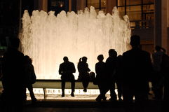 Free Lincoln Center Fountain Silhouettes, New York City Stock Photography - 17841792