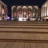 Lincoln Center na noite imagens de stock royalty free