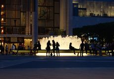 Lincoln Center - nacht Royalty-vrije Stock Afbeeldingen