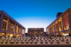 Lincoln Center in New York, USA on a clear night Royalty Free Stock Photos