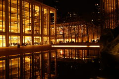 Lincoln Center Night Shots Part 2 70 Royaltyfria Bilder
