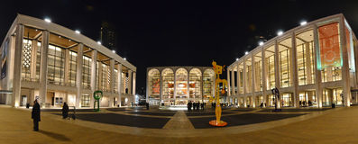 Lincoln Center Panorama - New York City Fotografía de archivo libre de regalías