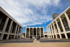 Lincoln Center-Piazza Stockbilder