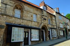 Lincoln City Centre - Steep Hill - Jew`s House Royalty Free Stock Image