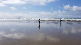Lincoln City Oregon Beach Sun stock foto