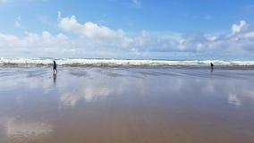 Lincoln City Oregon Beach Sun stock foto's