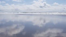 Lincoln City Oregon Beach Sun royalty-vrije stock foto's