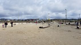 Lincoln City Oregon Beach Sun royalty-vrije stock afbeeldingen