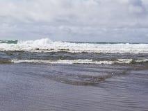 Lincoln City Oregon Beach Sun stock afbeelding