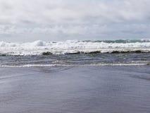 Lincoln City Oregon Beach Sun royalty-vrije stock afbeelding