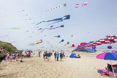 Annual Kite Flying Festival stock photography