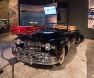 Lincoln Continental Cabriolet 1947 en la exposición en el museo en Amman, la capital del coche de rey Abdullah II de Jordania imagenes de archivo