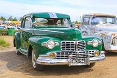 Lincoln Continental Coupe Classic Car verde fotos de stock