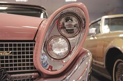 Lincoln Continental head-lamp Stock Image