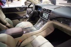 Lincoln Continental Interior Photographie stock libre de droits