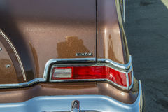 1976 Lincoln Continental Mark IV, detail juiste achterindicatoren Stock Fotografie