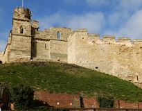Lincoln Csatle Walls Royalty Free Stock Photography
