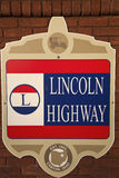 Lincoln-Datenbahnzeichen Stockfotografie