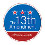Lincoln Day. The 13th Amendment, that changed the politics and history of America Royalty Free Stock Photos