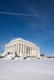 Lincoln-Denkmal, Winter stockbilder