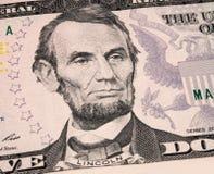 Lincoln en dólar Fotografía de archivo libre de regalías