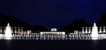 Lincoln entre les fontaines Photographie stock libre de droits
