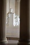 Lincoln-Erinnerungsnahaufnahme, Washington DC USA Stockfoto