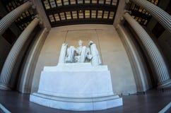 Lincoln-Erinnerungsvorderansicht des Innenraums lizenzfreie stockfotos