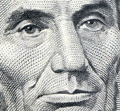 Lincoln Eyes royalty free stock image