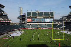 Lincoln Financial Field - Temple football pregame. PHILADELPHIA - OCTOBER 30: Lincoln Financial Field, home of the Philadelphia Eagles and Temple Owls, shown royalty free stock photography