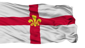 Isolated Lincoln city flag, UK. Lincoln flag, city of UK, realistic animation isolated on white seamless loop - 10 seconds long alpha channel is included stock footage