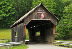 Lincoln Gap Bridge. Historic Lincoln Gap Bridge, in the town of Warren, Vermont, spanning the Mad River stock image