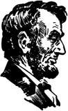 Lincoln Head illustration stock