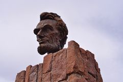 Lincoln Head Bust. In Wyoming Stock Photography