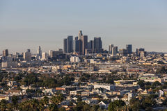 Lincoln Heights and Downtown Los Angeles Royalty Free Stock Image