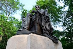 Lincoln in het Park van de Toelage Stock Afbeelding